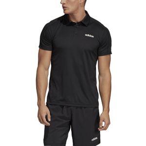 adidas Herren Sport Freizeit Polo Shirt D2M Climacool Polo schwarz, Größe:L