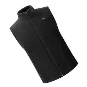 USB Heizweste Fleece Lightweight Charging Heizweste Schwarz M Regulär Weste Solide Beheizte Jacke