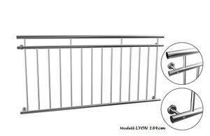 Französischer Balkon 184 cm Edelstahl Balkongitter Fenstergitter Stabgeländer Geländer
