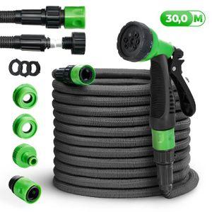 tillvex® Flexibler Gartenschlauch 30m Black Edition Wasserschlauch dehnbarer Flexischlauch Wonder