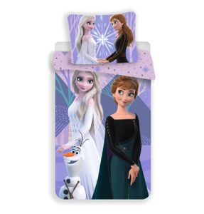 Disney Frozen 2 Bettwäsche Eiskönigin Anne Elsa Snowflake Kopfkissen Bettdecke violette