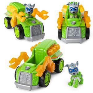 Mighty Pups   Deluxe Fahrzeuge mit Licht, Sound und Spiel-Figur   Paw Patrol, Figur:Rocky