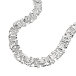 Armband 6x2mm Königskette flach Silber 925 19cm