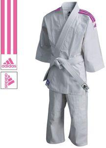 adidas Judoanzug J200 Evolution Weiß/Rosa-130-140cm