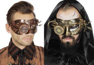 Kostüm Zubehör Maske Steampunk Karneval Halloween bronze