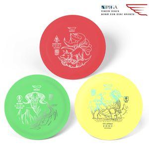 Yikun Soft Disc Golf Set 3 in 1 Outdoor Discgolf-Set für Kinder und Erwachsene Outdoor Spielzeug Frisbees Disc Outdoorspielzeuge Gartensport & Spiele Flying Ring