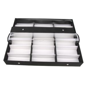 Brillenbox zur Aufbewahrung von18 Brillen Schwarz 47 x 37 cm Display zur Sonnenbrillen Präsentation