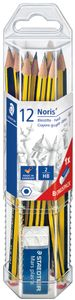 STAEDTLER Bleistift Noris 12er Promopack + Radierer Promopack