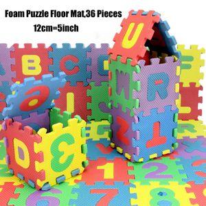 Puzzlematte Kinderteppich Spielteppich Spielmatte Schaumstoffmatte(12*12cm 36 Stück)