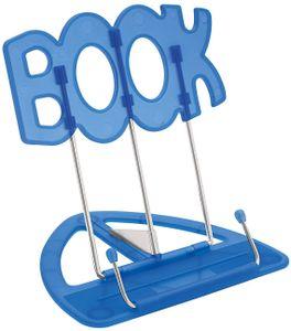 WEDO Leseständer BOOK mit Kunststoffunterteil blau