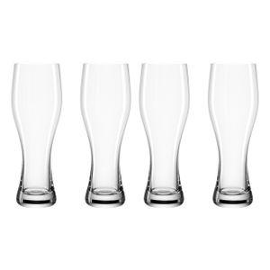 Leonardo Taverna Weizenbiergläser 4er Set Bierglas Weizenglas Weizen Glas 330 ml
