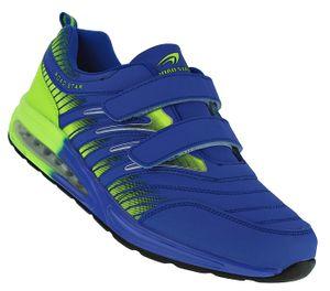 Damen Herren Klett Sportschuhe Sneaker Turnschuhe Laufschuhe Freizeitschuhe 001, Schuhgröße:39, Farbe:Blau/Grün