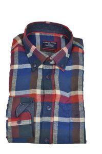 Casa Moda - Comfort Fit - Herren Freizeit Flanell Hemd mit Button Down Kragen (472859800), Größe:XXL, Farbe:Blau (100)
