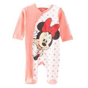 Disney Minnie Baby Schlafstrampler, lachs, Gr. 56-92 Größe - 68