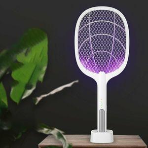 Elektrische Fliegenklatsche mit AKKU, Insekten Mücken Schläger Mückenklatsch USB