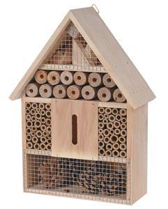 """Insektenhotel """"M"""" zum aufhängen - natur - Größe: 30 cm"""