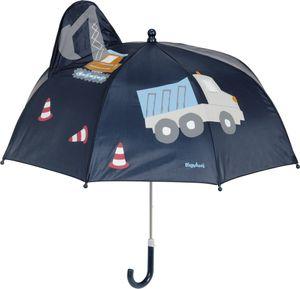 Playshoes - Regenschirm 3D für Kinder - Baustelle - Dunkelblauw, Onesize