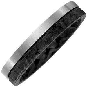 JOBO Partner Ring 66mm Carbon mit Titan matt Partnerring bicolor