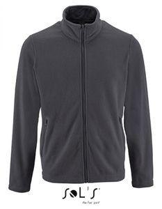 Herren Plain Fleece Jacket Norman - Farbe: Charcoal Grey (Solid) - Größe: M