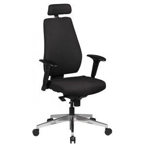 Bürostuhl DARIUS Stoffbezug schwarz Schreibtischstuhl