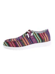 Gestreifte Damensneaker Bequeme Freizeitschuhe Abriebfeste Flache Schuhe,Farbe: Roter Streifen,Größe:39