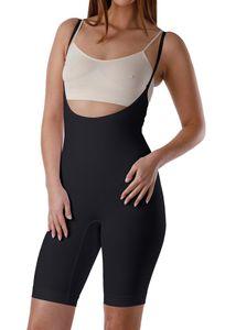 Yenita® Figurformender Shapewear Body mit Bein XL schwarz