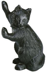 2 Stück Esschert Design Türstopper, Türpuffer mit Motiv Katze aus Gusseisen, ca. 14 cm x 9,7 cm x 22 cm