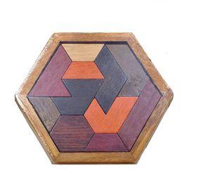 Holzpuzzle Tangram Puzzlespiel Knobelspiel Denkspiel Pädagigisches Spielzeug für Kinder