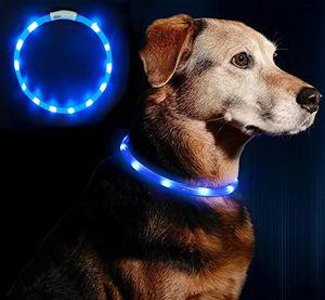 LED Hundehalsband Licht USB Aufladen Leuchtendes Hundehalsband Leuchtendes Haustierhalsband für Katzen und Hunde