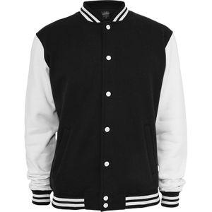 Urban Classics 2-tone College Sweatjacket, Farbe:blk/wht, Größe:XL