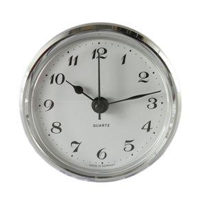 Uhrwerk Einsteckuhrwerk Einbau-Uhr Modellbau-Uhr Quartz Uhrwerk Ø 66 mm Lunette Silber