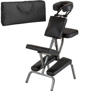 tectake Massagestuhl aus Kunstleder - schwarz