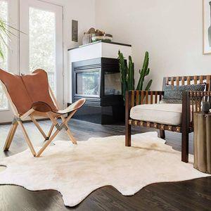 Teppich Echtes Kuhfell 150×170 cm Beige