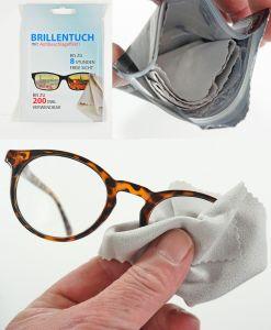 Antibeschlagtuch Brillentuch Brillenputztuch Brille Lesebrille Sportbrille Skibrille bis zu 200x verwendbar