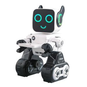 Smart Roboter für Kinder, Programmierbare Interaktive RC Roboter mit Voice Control, geschenk für 6 7 8 9 Jahre Alt Kinder Jungen und Mädchen Farbe Weiß