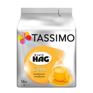 Tassimo Café Hag Crema  entkoffeiniert | 16 T Discs, Kaffeekapseln