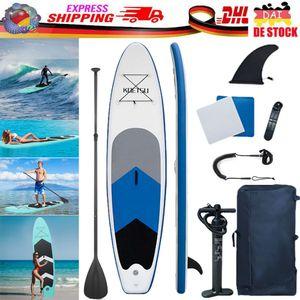SUP Board Aufblasbares Stand Up Paddle Board 320x76x15cm bis 150kg Kajak-Sitz Surfboard Paddling Paddelboard Fortgeschrittene