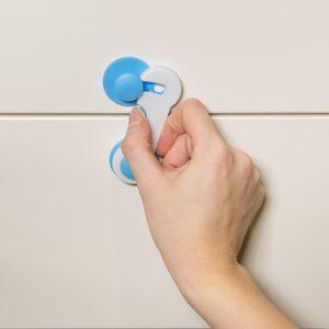 Navaris Schranksicherung 10x Baby Sicherung - Kindersicherung Tür Schrank Schubladen - Schubladensicherung Schutz für Kinder - Sicherheit in Weiß