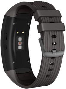 Samsung Gear Fit 2/Gear Fit2 Pro Armband Silikon Schwarz - L