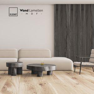 KLEMP Lamellenwand Wandverkleidung|Musterset Wandlamellen, alle Farben | Aus MDF dekorative Paneele | Wand und Decke Holzlamellen für Wohnzimmer, Flur, Schlafzimmer | Holzpaneele