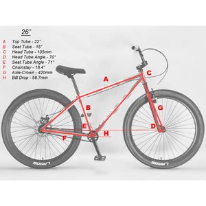mafiabikes Mafia Bomma 26 Zoll Wheelie Bike BMX Fahrrad Street Park Freestyle, Farbe:slate grey