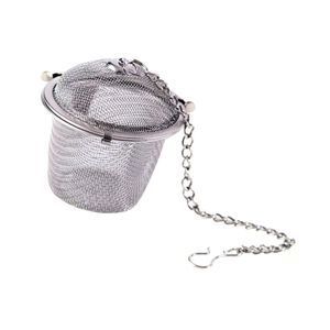 Tee-Kugel-Tee-Infuser-Gewürzsiebe aus Edelstahlgewebe 4 Größen L Silber