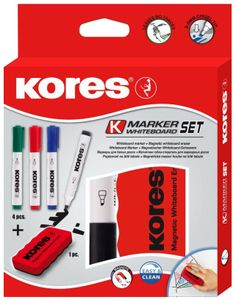 Kores Whiteboard Marker Set 4 Marker + Tafellöscher