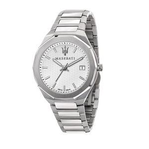 Maserati Herren Uhr, STILE Kollektion, Quarzwerk, Zeit und Datum, aus Edelstahl - R8853142005