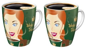 2x Ritzenhoff Sammelbecher 15. Edition limitiert Jacobs Kaffeebecher Becher bunt