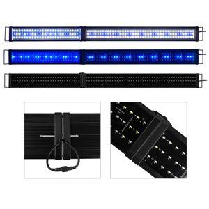 180-200cm LED Aquarien Beleuchtung ohne Timer, Klappbar, Faltbare, 180cm (90+90cm), Abdeckung Aufsatzleuchte Aquarium Lampe Leuchte Tank Blau/Weiß/Blau+Weiß