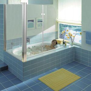 Eck Glas Duschabtrennung Badewannenaufsatz Badewannenfaltwand Duschkabine Dusche
