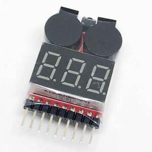 1S-8S RC LiPo Buzzer Indikator Warner Alarm Checker Tester Drone AIP Spannung