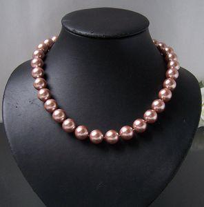 Perlenkette Kette MK-Perlen rosenholz Magnetverschluß Collier K2307