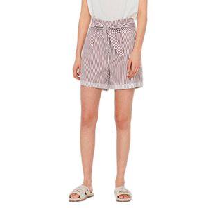 Vero Moda Eva Paperbag Cot Ps Snow White / Stripes Sable XL